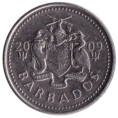 25 cents coin Barbados