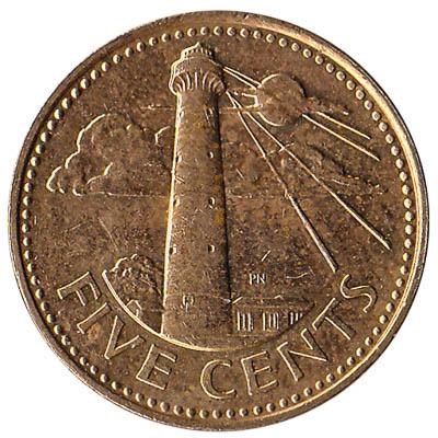 5 cents coin Barbados