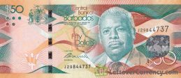 50 Barbados dollars banknote (Independence Square)