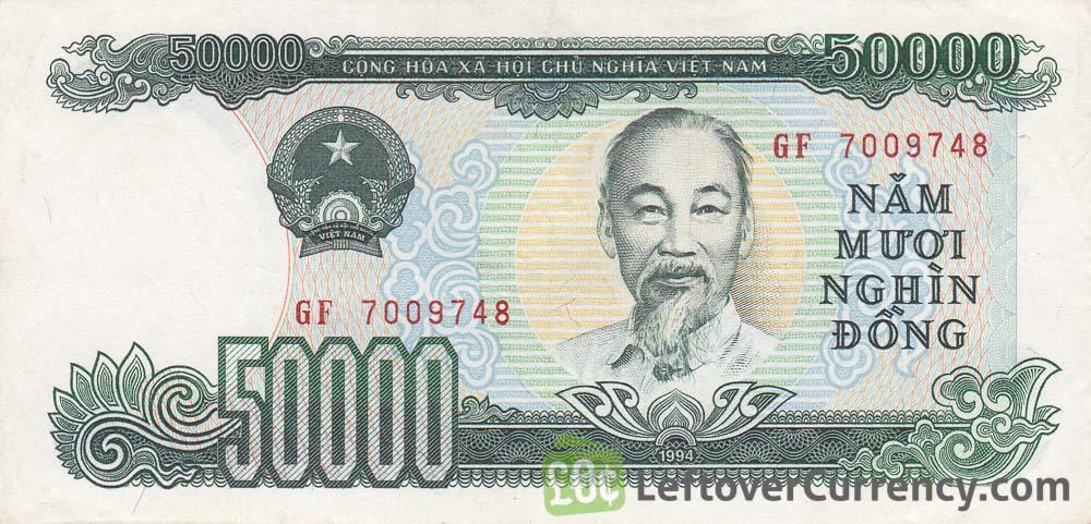 50000 Vietnamese Dong Banknote 1990