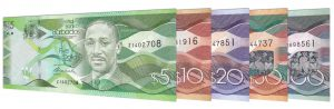 current Barbadian Dollar banknotes