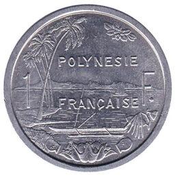 1 CFP franc coin obverse