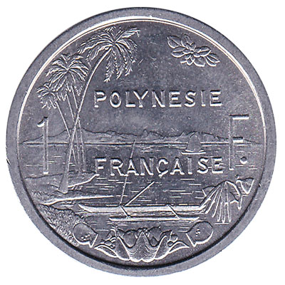 1 CFP franc coin obverse