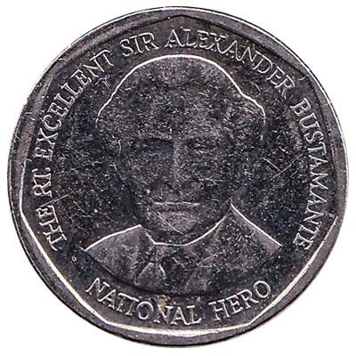 1 Jamaican Dollar coin (round)