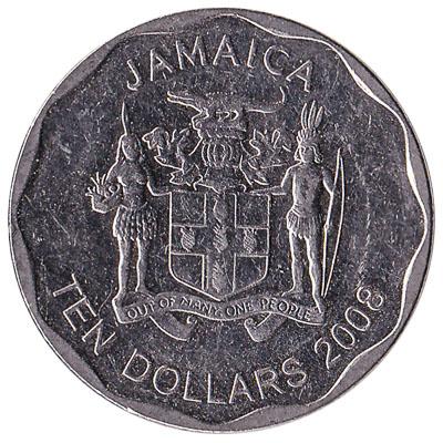 10 Jamaican Dollars coin (round)