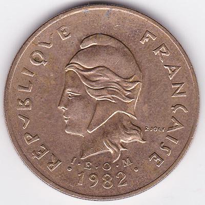 100 CFP francs coin (Polynésie Française)