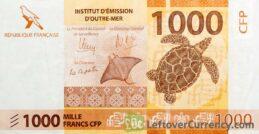 1000 CFP francs banknote (2014)