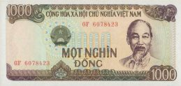 1000 Vietnamese Dong banknote type 1987
