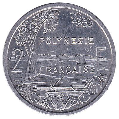 2 CFP francs coin (Polynésie Française)