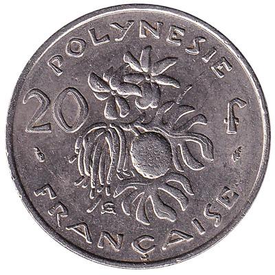 20 CFP francs coin (Polynésie Française)
