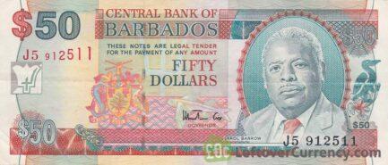 50 Barbados Dollars banknote (National Heroes Square)