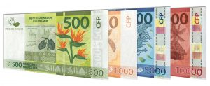 current CFP French Polynesian Franc banknotes