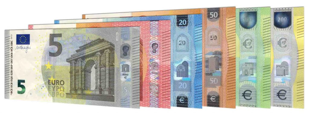 new euro banknotes second series