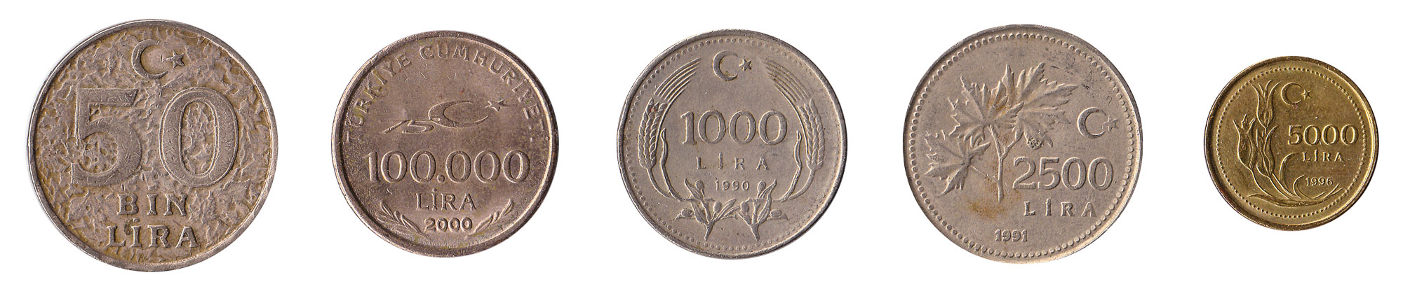 1000 lira coin Turkey inflation