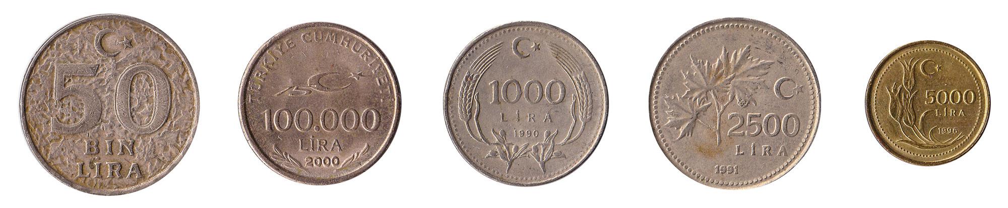 1000 lira coin Turkey inflation