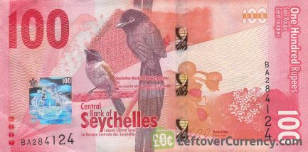 100 Seychelles Rupees banknote obverse accepted for exchange