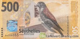 500 Seychelles Rupees banknote obverse