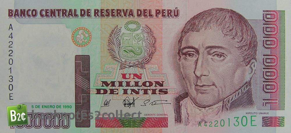 1 000 Peruvian Intis Banknote