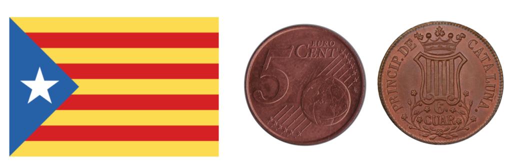 Catalonia and the Eurozone 5 cent coin artist impression