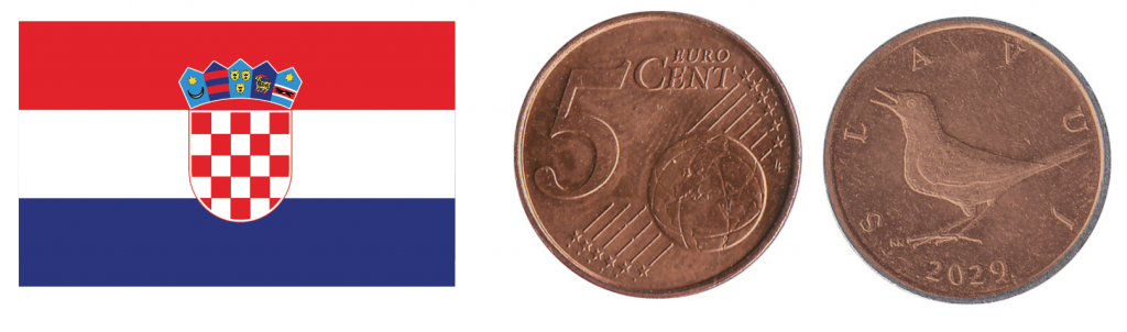 How a 5 euro cent coin may look when Croatia joins the Eurozone