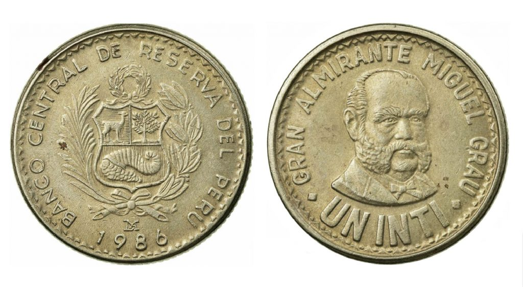 1 Peruvian Inti coin