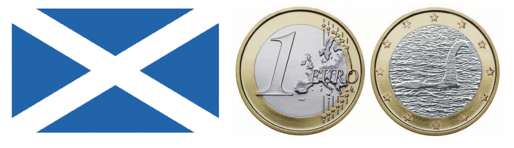 Scotland 1 euro coin artist impression