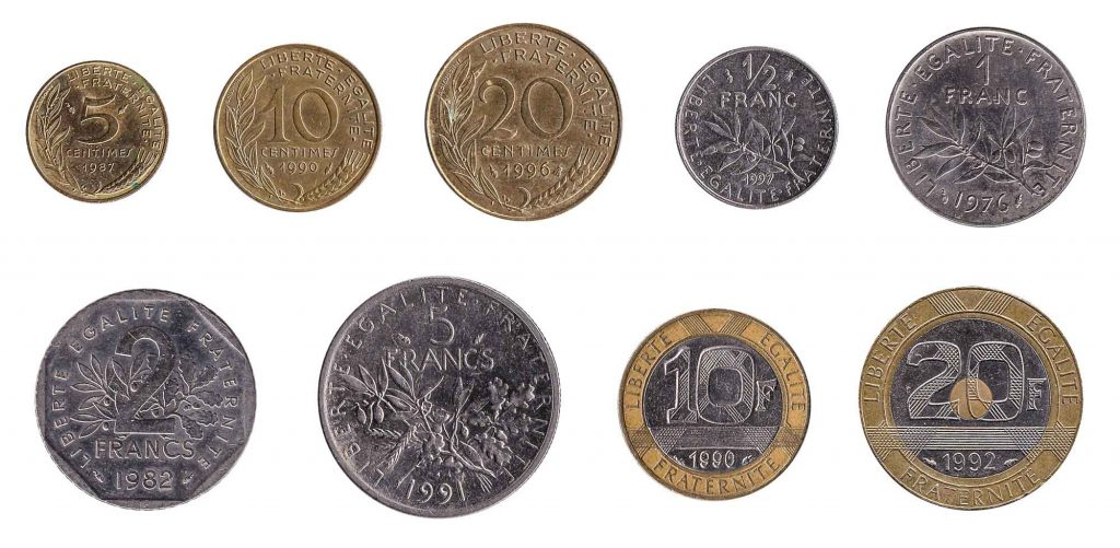 old foreign coins from France