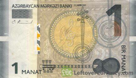 1 Azerbaijani manat banknote