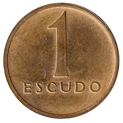 1 Portuguese Escudo coin (small type)