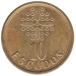 10 Portuguese Escudos coin