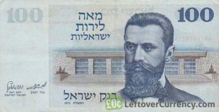 100 Israeli Lirot banknote (Theodor Herzl)