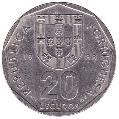 20 Portuguese Escudos coin