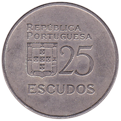25 Portuguese Escudos coin