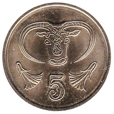 5 cents coin Cyprus