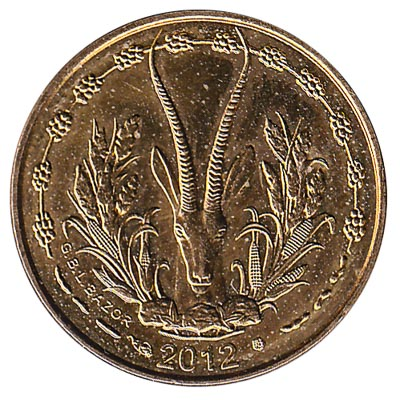 5 FCFA coin West Africa