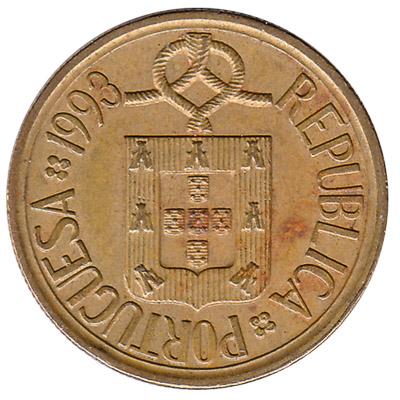 5 Portuguese Escudos coin