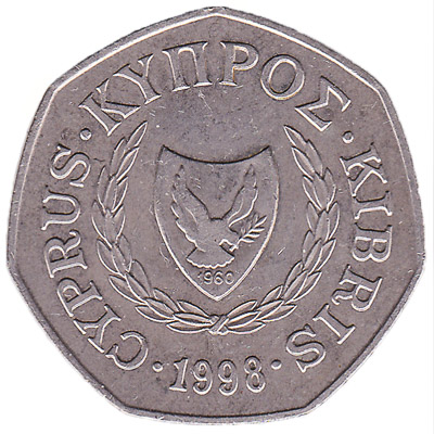 50 cents coin Cyprus