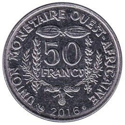 50 FCFA coin West Africa