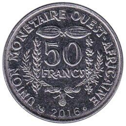 50 FCFA coin West Africa
