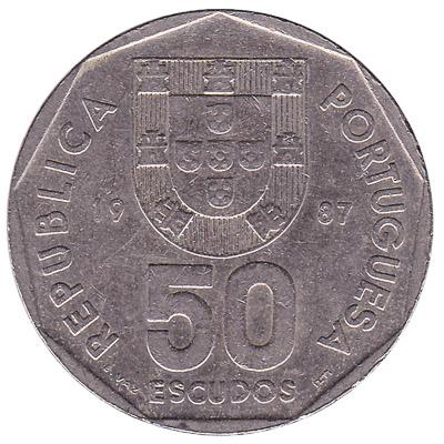 50 Portuguese Escudos coin