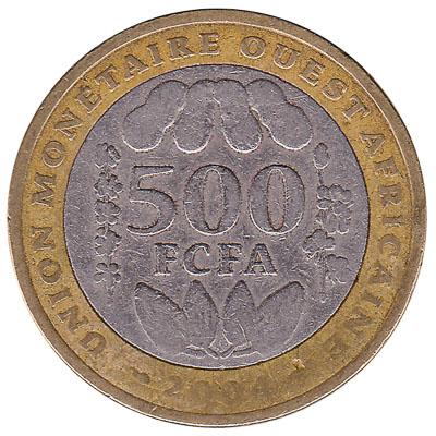 500 FCFA coin West Africa