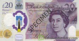 Bank of England 20 Pounds Sterling polymer banknote (JMW Turner)