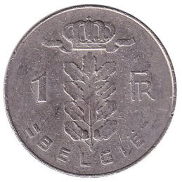 1 Belgian Franc coin (Ceres)