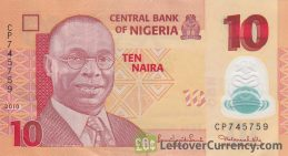10 Nigerian Naira banknote (Alvan Ikoku)