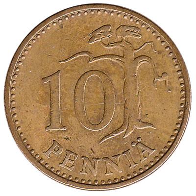 10 pennia coin Finland (aluminium bronze)