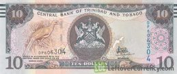 10 Trinidad and Tobago Dollars banknote