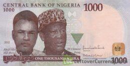 1000 Nigerian Naira banknote (Mai Bornu and Isong)