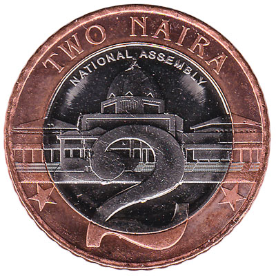 2 Nigerian Naira coin