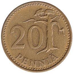 20 pennia coin Finland