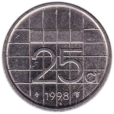 25 cent coin (Beatrix)